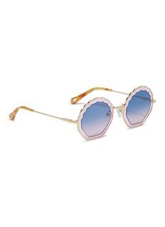 Chloé 'Tally' metal scalloped sunglasses