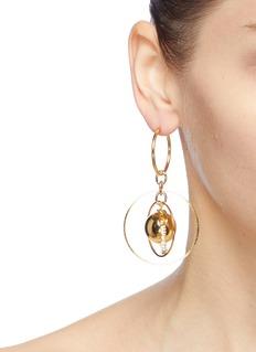 MOUNSER 'Sonic' mismatched geometric link drop earrings