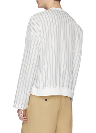 Back View - Click To Enlarge - FFIXXED STUDIOS - Contrast border stripe shirt