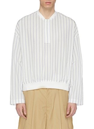 Main View - Click To Enlarge - FFIXXED STUDIOS - Contrast border stripe shirt