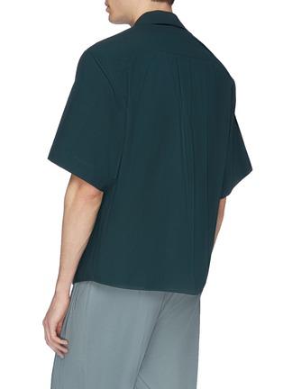 Back View - Click To Enlarge - FFIXXED STUDIOS - Tartan plaid pocket appliqué short sleeve shirt