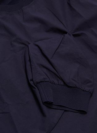 - FFIXXED STUDIOS - Sleeve panel mock wrap poplin T-shirt