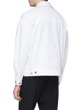 Back View - Click To Enlarge - FFIXXED STUDIOS - x Tobias Kaspar chest pocket shirt jacket