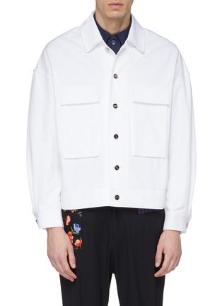 Main View - Click To Enlarge - FFIXXED STUDIOS - x Tobias Kaspar chest pocket shirt jacket