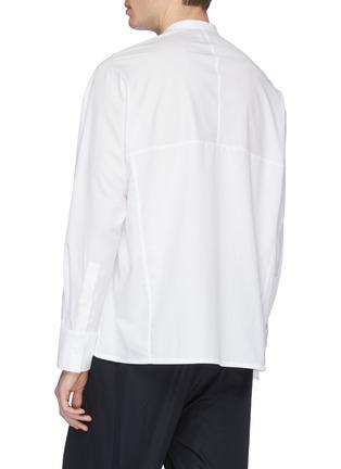 Back View - Click To Enlarge - FFIXXED STUDIOS - Mandarin collar chest pocket shirt