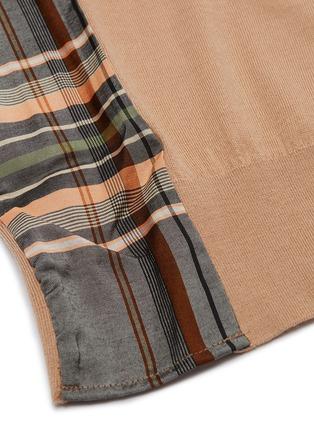 - FFIXXED STUDIOS - Tartan plaid panel patchwork raglan sweater