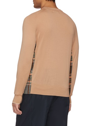 Back View - Click To Enlarge - FFIXXED STUDIOS - Tartan plaid panel patchwork raglan sweater