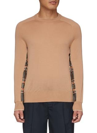 Main View - Click To Enlarge - FFIXXED STUDIOS - Tartan plaid panel patchwork raglan sweater