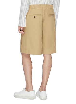 Back View - Click To Enlarge - FFIXXED STUDIOS - Pleated twill bermuda shorts