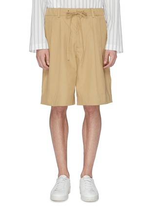 Main View - Click To Enlarge - FFIXXED STUDIOS - Pleated twill bermuda shorts