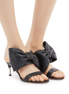 Alexander McQueen Oversized bow band leather sandals