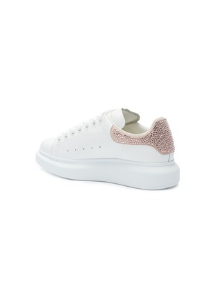- ALEXANDER MCQUEEN - 'Oversized Sneaker' in leather with strass collar
