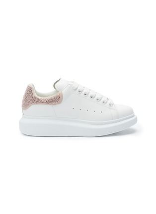 Main View - Click To Enlarge - ALEXANDER MCQUEEN - 'Oversized Sneaker' in leather with strass collar