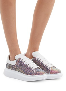 Alexander McQueen 'Larry' chunky outsole leather collar glitter sneakers