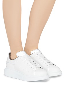 Alexander McQueen 'Larry' piped chunky outsole leather sneakers