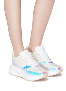 Alexander McQueen 'Molly' oversized outsole holographic panel leather sneakers