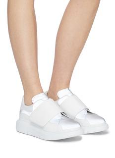 Alexander McQueen 'Larry' chunky outsole colourblock strap reflective sneakers