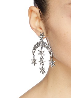 Jennifer Behr 'Statement Star' glass crystal drop earrings