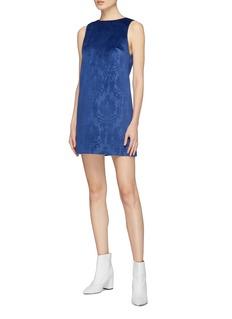 alice + olivia 'Clyde' velvet brocade mini shift dress