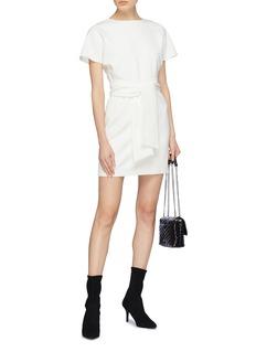 alice + olivia 'Caven' sleeve tie T-shirt dress