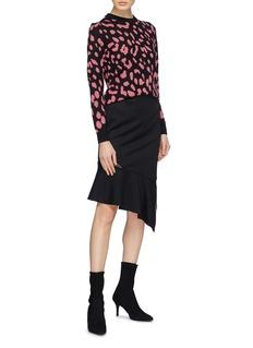 alice + olivia 'Chia' leopard jacquard wool sweater