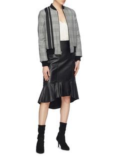 alice + olivia 'Lonnie' reversible bouclé knit bomber jacket