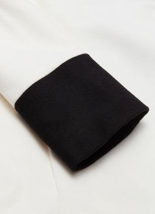 - alice + olivia - 'Vance' colourblock shawl lapel wool blend coat