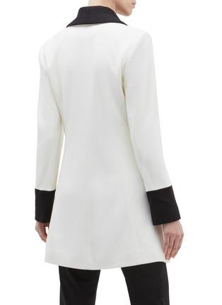 Back View - Click To Enlarge - alice + olivia - 'Vance' colourblock shawl lapel wool blend coat