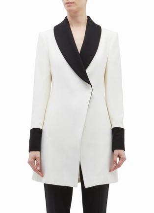 Main View - Click To Enlarge - alice + olivia - 'Vance' colourblock shawl lapel wool blend coat
