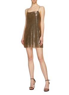 alice + olivia 'Harmony' chainmail mini slip dress