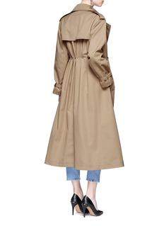 Valentino 'Rockstud Untitled 01' gathered waist trench coat