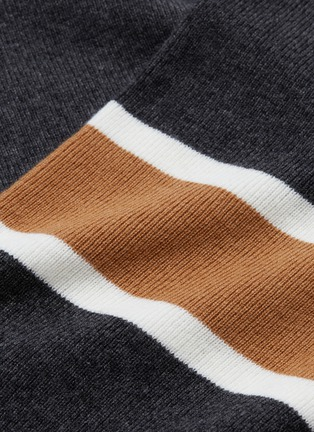 - EQUIL - Stripe sleeve wool-cashmere sweater