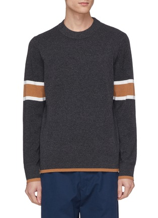 Main View - Click To Enlarge - EQUIL - Stripe sleeve wool-cashmere sweater