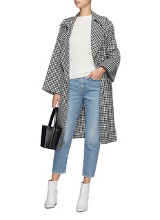 EQUIL Contrast seam cashmere sweater
