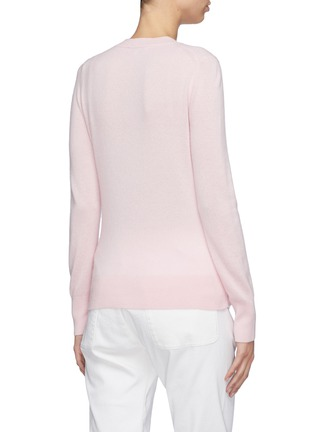 Back View - Click To Enlarge - EQUIL - Contrast seam cashmere sweater