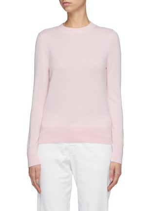 Main View - Click To Enlarge - EQUIL - Contrast seam cashmere sweater