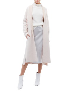 EQUIL Belted wool blend long cardigan