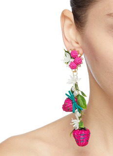 Mercedes Salazar 'Strawberry' drop clip earrings