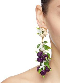 Mercedes Salazar 'Grape' drop clip earrings