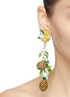 Mercedes Salazar 'Pineapple' drop clip earrings