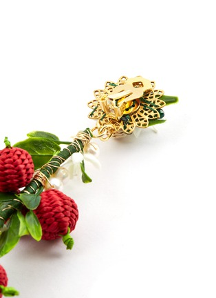 Detail View - Click To Enlarge - Mercedes Salazar - 'Berry' drop clip earrings