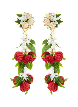Main View - Click To Enlarge - Mercedes Salazar - 'Berry' drop clip earrings