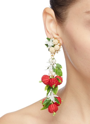 Figure View - Click To Enlarge - MERCEDES SALAZAR - 'Berry' drop clip earrings