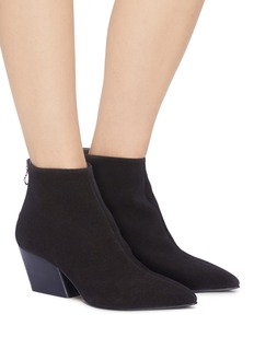 aeyde 'Freya' slanted heel suede ankle boots
