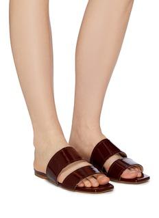 aeyde 'Mattea' patent leather slide sandals