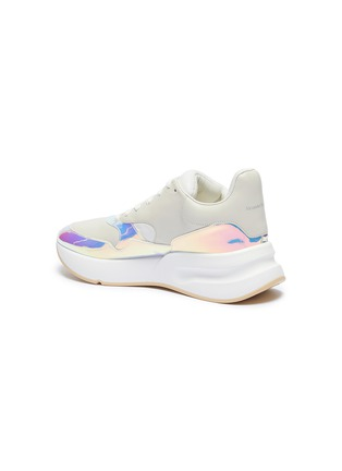 - ALEXANDER MCQUEEN - 'Oversized Runner' in holographic panel leather