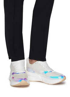 Alexander McQueen 'Larry' oversized outsole holographic panel sneakers