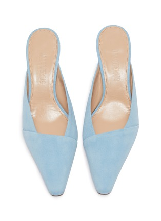 Detail View - Click To Enlarge - JACQUEMUS - 'Sao' sculptural heel suede mules