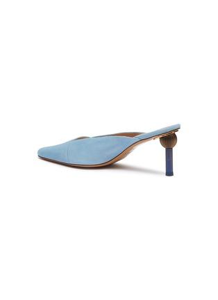 - JACQUEMUS - 'Sao' sculptural heel suede mules