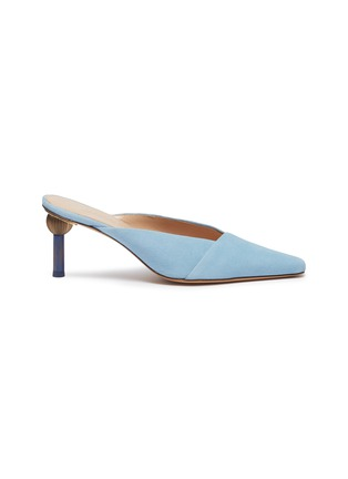 Main View - Click To Enlarge - JACQUEMUS - 'Sao' sculptural heel suede mules